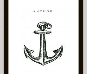 Anchor Nautical Home Decor Wall Art